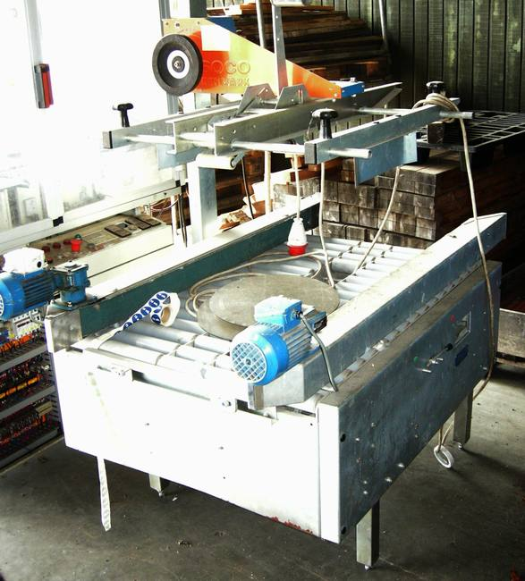SOCO med top dispenser til 100 mm tape, max bredde af karton 600 mm.    model T 023-50