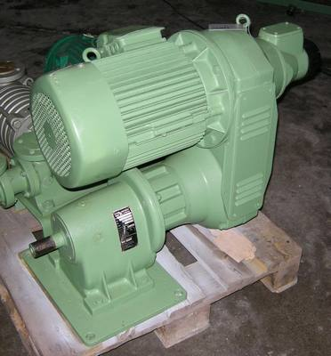 "H""rth Getriebe 7,5 kW motor, gearing ?. 35 ø mm udgangsaksel."